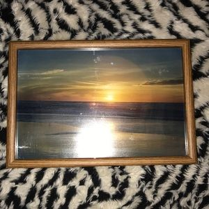 Vintage 90's Beachscape photo picture frame